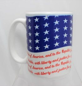 Pledge of Allegiance Flag 15 oz Mug