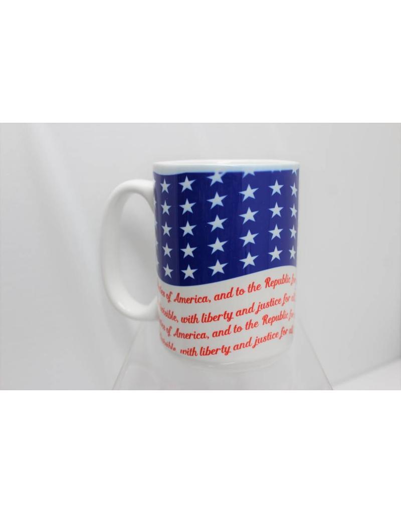 Pledge of Allegiance Flag 15 oz Mug