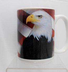 American Flag with Eagle 15 oz Mug
