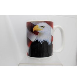 American Flag with Eagle 15 oz Mug