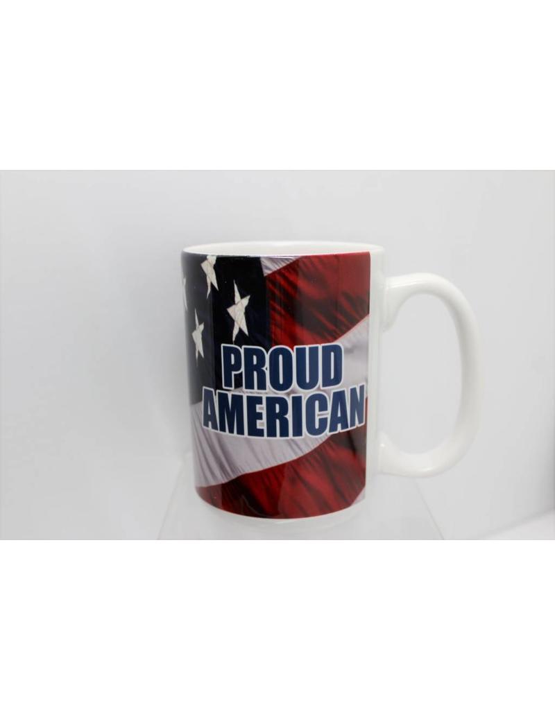 Proud American with Flag 15oz Mug