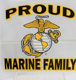 "Proud Marine Family with EGA Emblem 4x4.5"" Decal"