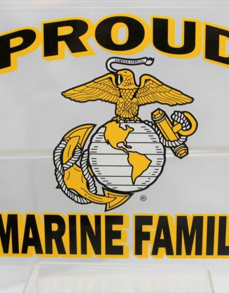 "Proud Marine Family with EGA Emblem 4x4.5"" Decal"