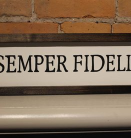 "Semper Fidelis 4x16"" Wooden Sign"