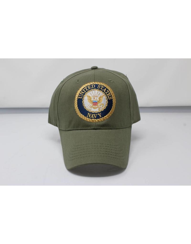 Navy Emblem Baseball Cap