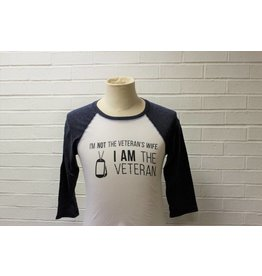 I am Not The Veteran's Wife Raglan Baseball Shirt