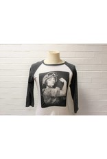 Modern Rosie The Riveter Raglan Style Baseball Shirt