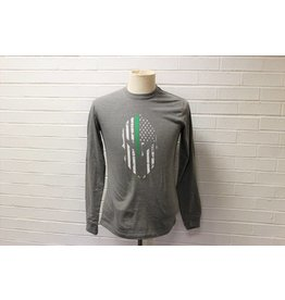 Spartan Green Line T-Shirt Long-Sleeve