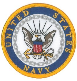 United States Navy with Crest 3'' Round Patch