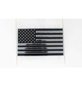 US Flag Chrome Plated Metal Auto Emblem 2.5''x4''