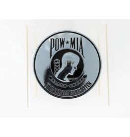 POW/MIA Chrome Plated Metal Auto Emblem 3.5''