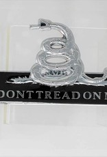 Don't Tread on Me Chrome Plated Metal Auto Emblem 4''