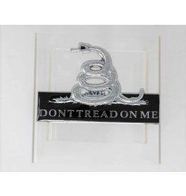Don't Tread on Me Chrome Plated Metal Auto Emblem 4''