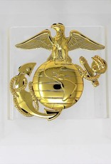 Marines EGA Chrome Plated Metal Auto Emblem 3''