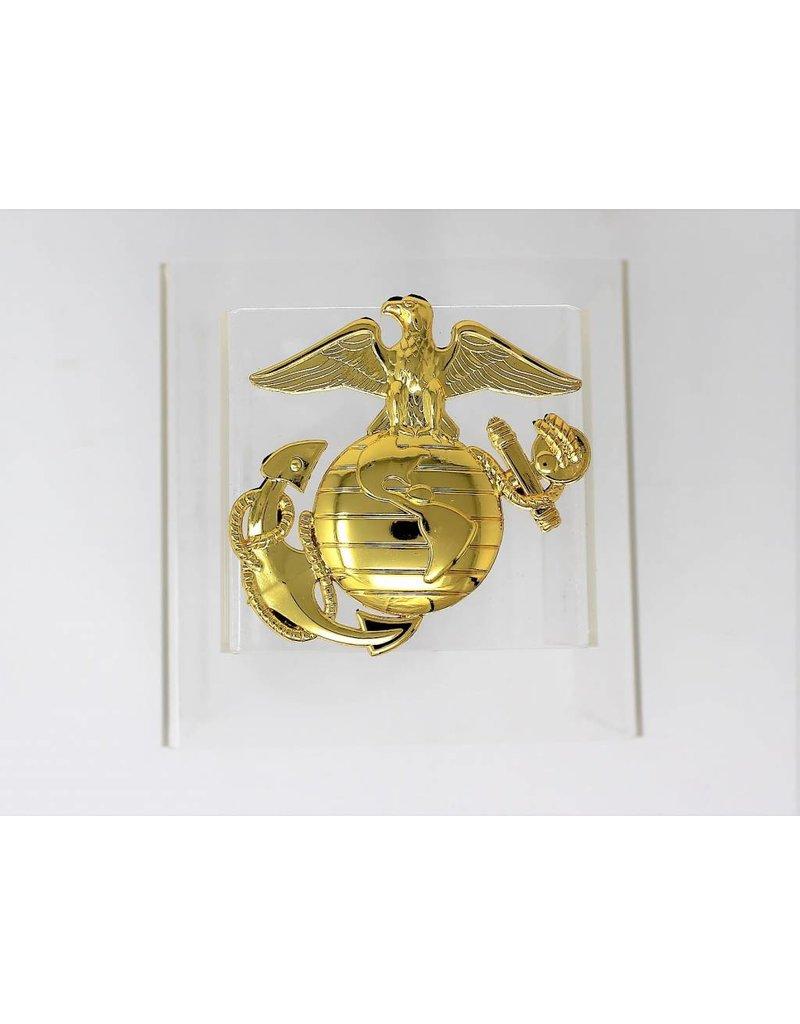 Marines EGA Chrome Plated Metal Auto Emblem 3''