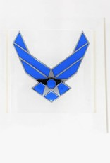 Air Force Symbol Chrome Plated Metal Auto Emblem 2.5''