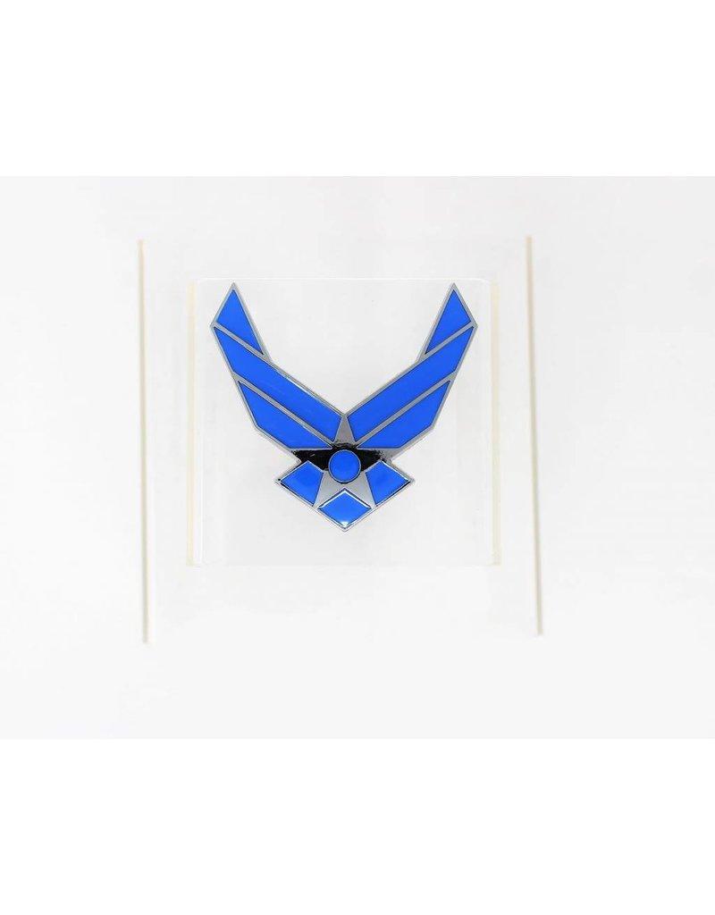 Air Force Symbol Chrome Plated Metal Auto Emblem 2.5''