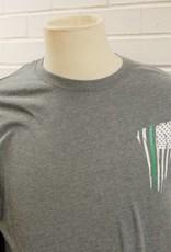 Thin Green Line Thank A Veteran Flag Long Sleeve Shirt