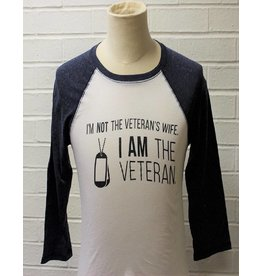 I am Not The Veteran's Wife Raglan Baseball Shirt