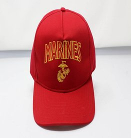 Marines W/ Red EGA (Red) Baseball Cap