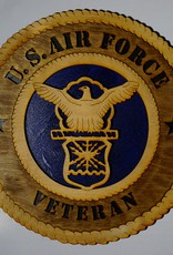 Air Force Veteran SM Plaque Locally Made