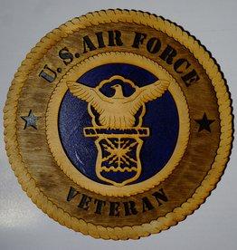 Air Force Veteran SM Plaque Locally Made