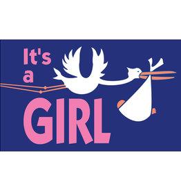"""It's a Girl"" 3x5' Nylon Outdoor Flag"