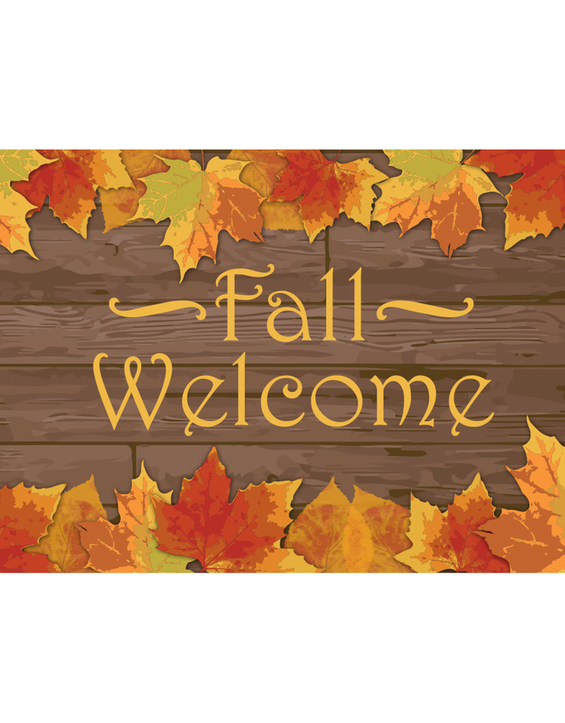 Fall Welcome 3x5' Nylon Outdoor Flag
