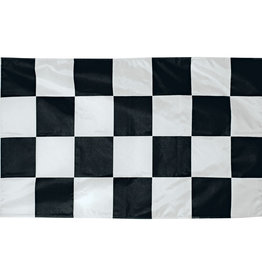 Fully Printed 2x3' Nylon Outdoor Black and White Checkered Flag