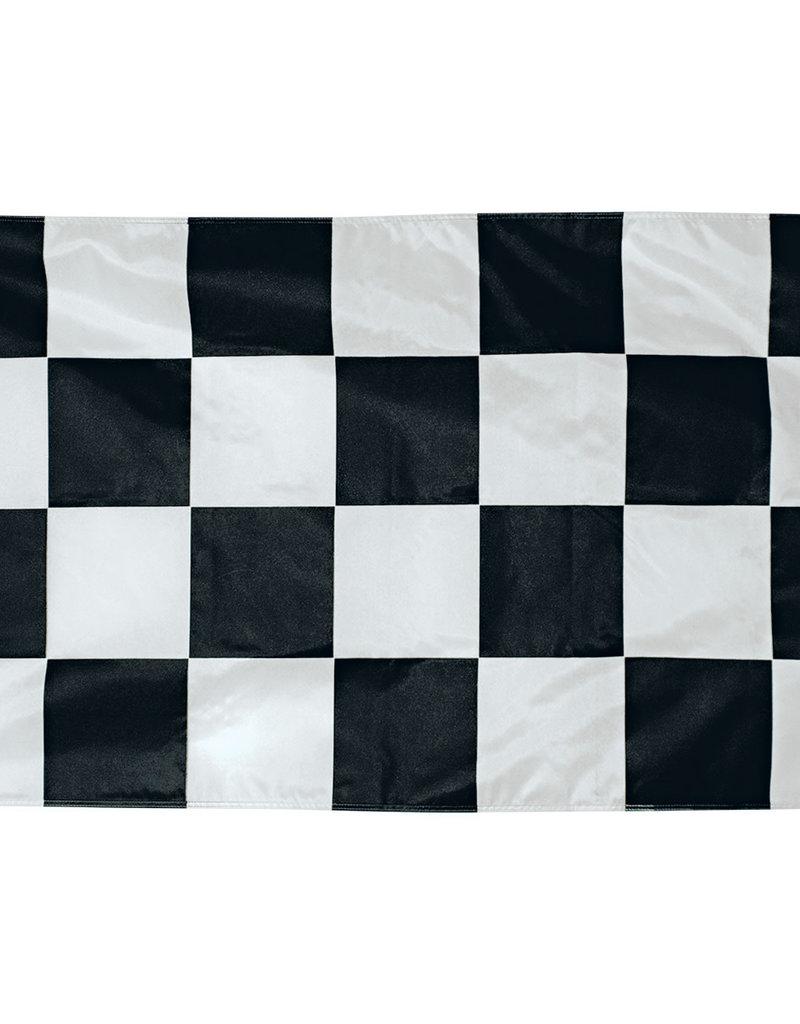 Eder Flag Fully Printed 2x3' Nylon Outdoor Black and White Checkered Flag