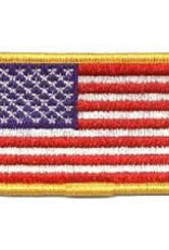 USA Flag w/Gold Border Hook & Loop Patch