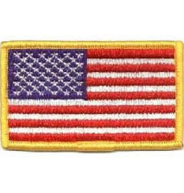 Mitchell Proffitt USA Flag w/Gold Border Hook & Loop Patch