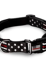 Thin Blue Line USA Thin Red Line Pet Collar Large