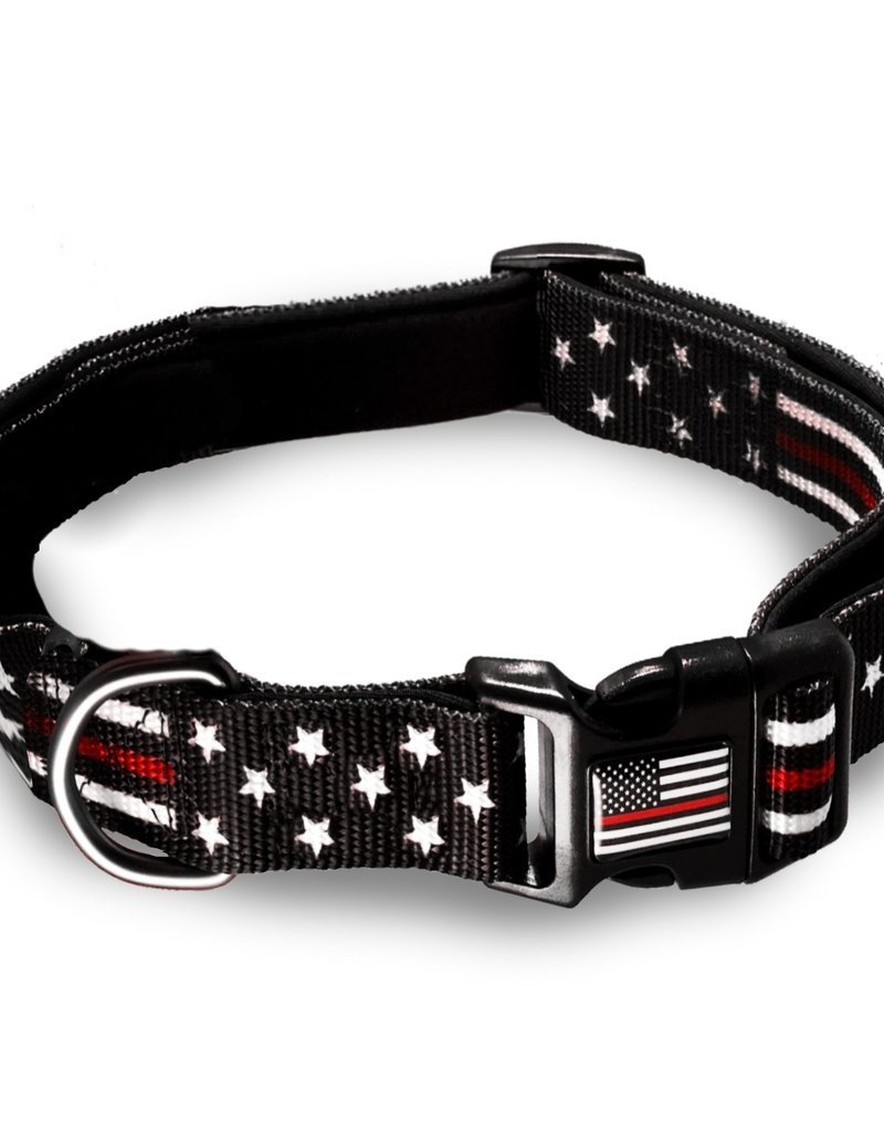 Thin Blue Line USA Thin Red Line Pet Collar Medium