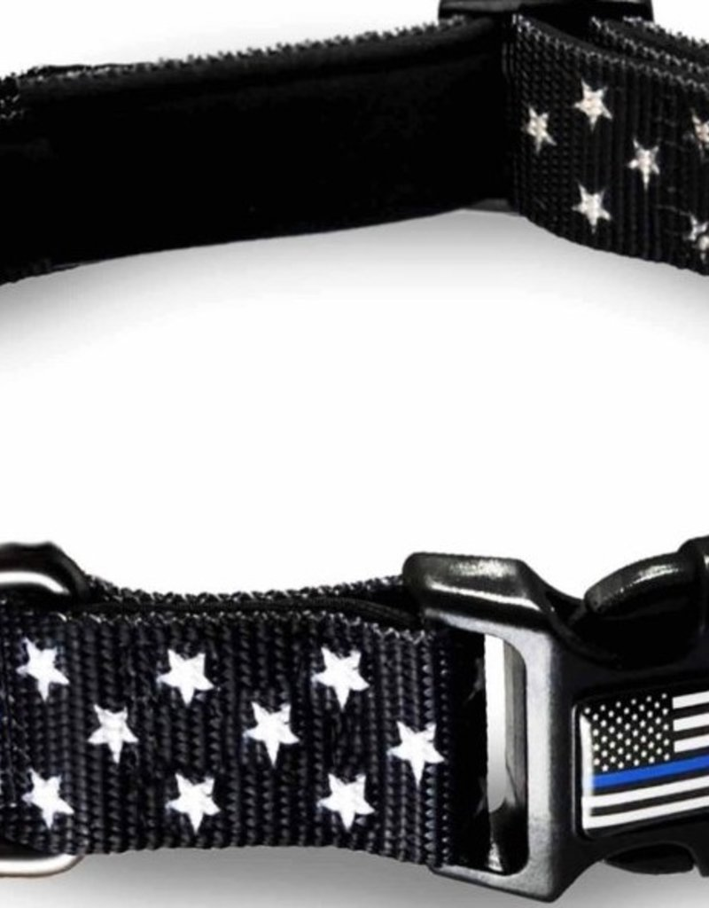Thin Blue Line Pet Collar Medium