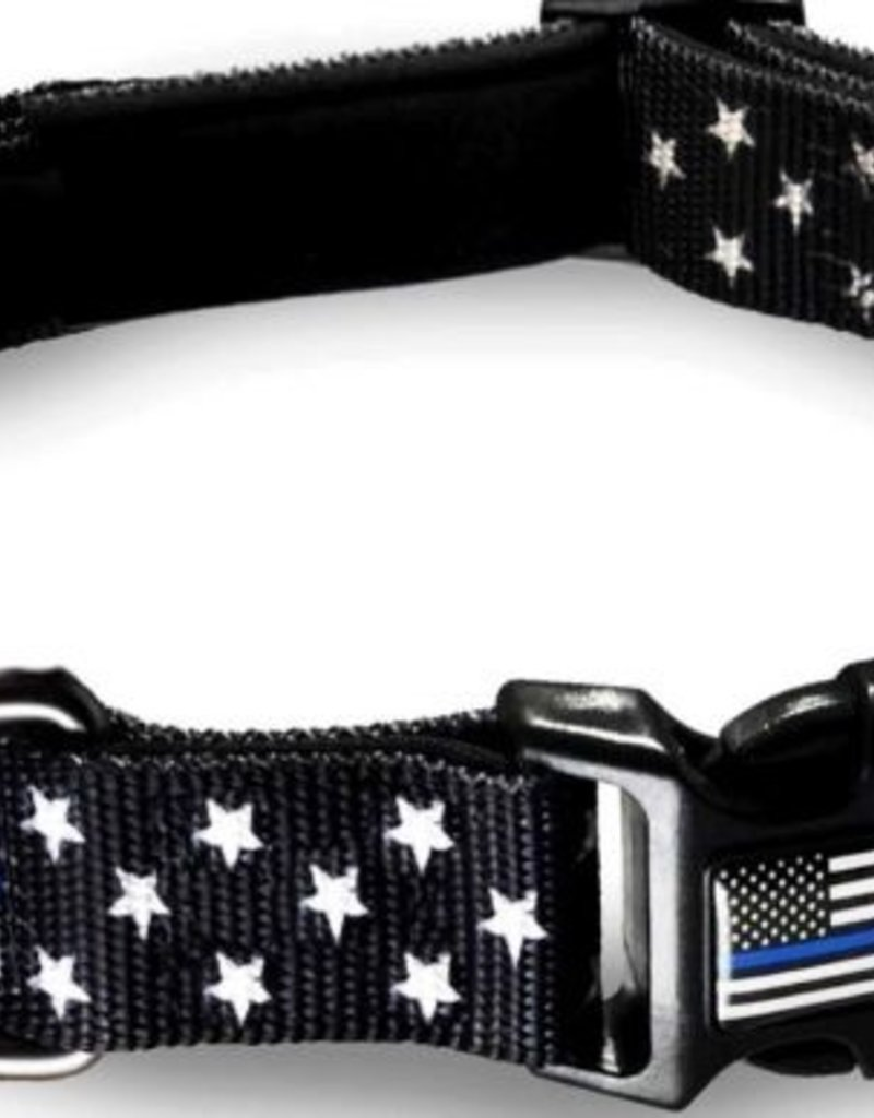 Thin Blue Line Pet Collar Small