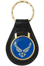 U.S. Air Force Hap Arnold Wings on Leather Key Fob