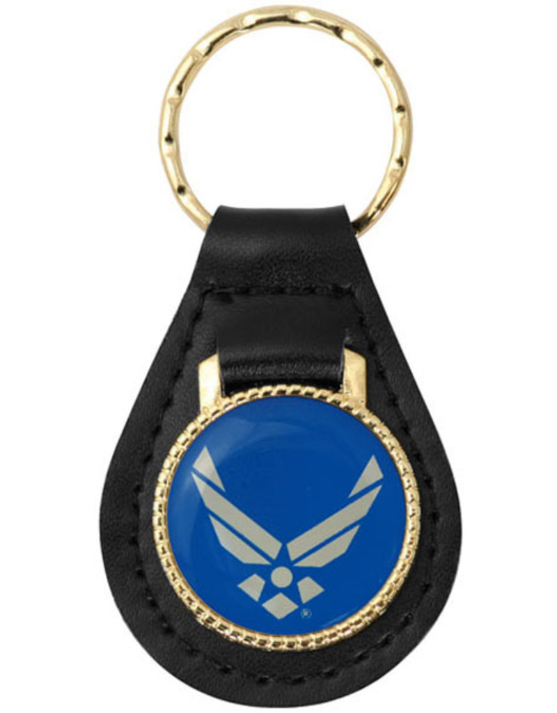 Mitchell Proffitt U.S. Air Force Hap Arnold Wings on Leather Key Fob