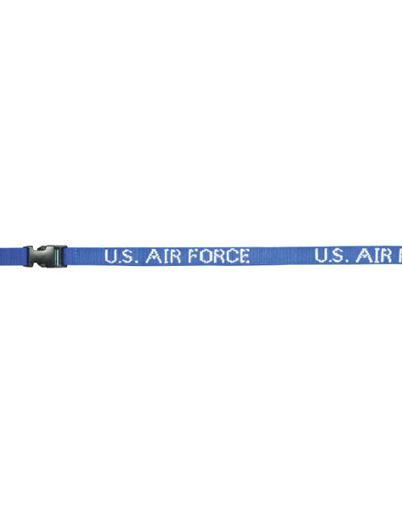 U.S. Air Force DEMB in White Thread on Removable Clasp Royal Blue Lanyard