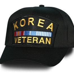 Korea Veteran Patch Baseball Cap Black