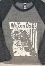 Stamped Graphix Rosie The Riveter Baseball Raglan Sleeve