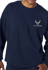 Air Force Sweatshirt w/Logo Blue Large