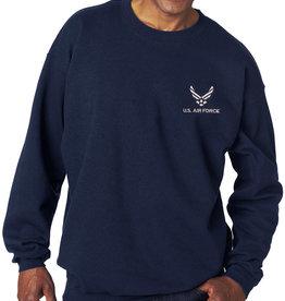Air Force Sweatshirt w/logo Navy Blue Medium