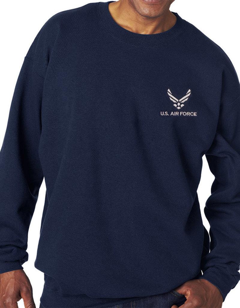 Mitchell Proffitt Air Force Sweatshirt w/logo Navy Blue Medium