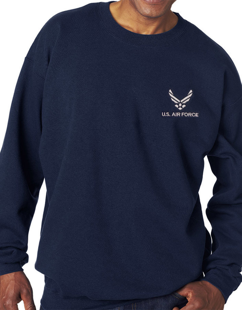 Air Force Sweatshirt w/Logo Blue-X large
