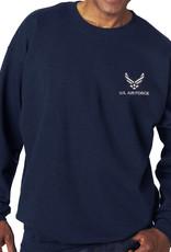 Air Force Sweatshirt w/Logo Blue- 2XL