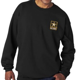Army Sweatshirt w/Star Logo Black Med