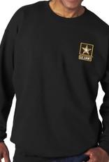 Army Sweatshirt w/Star Logo Black Large
