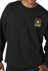 Army Sweatshirt w/Star Logo Black-XL