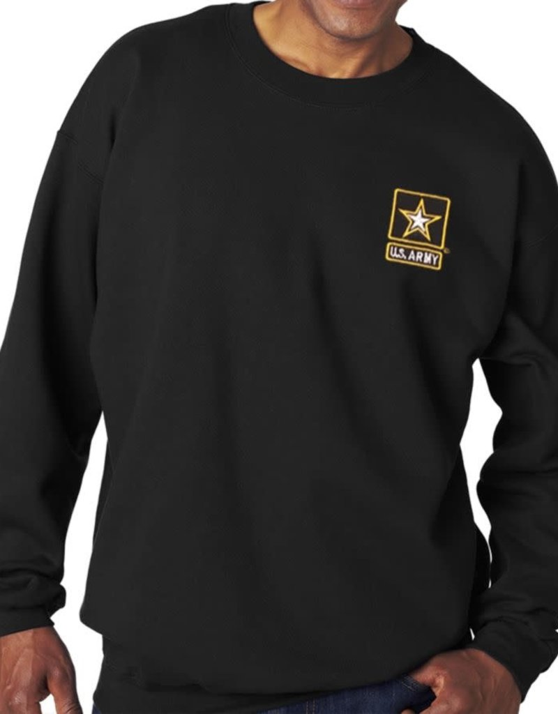 Army Sweatshirt w/Star Logo Black 2XL